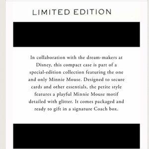 Coach Accessories - 🆕 Coach x Disney Minnie Mouse Skinny Mini Ltd Ed